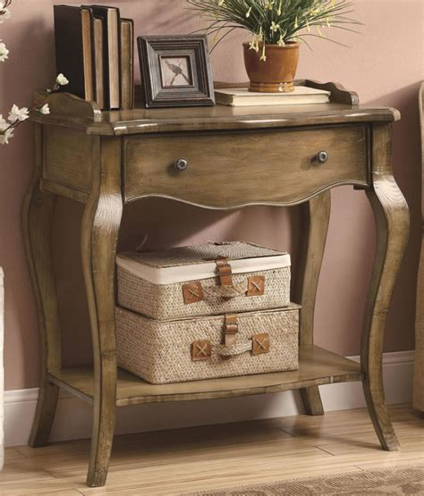 entry way furniture furniture wooden console table with drawer and shelf and