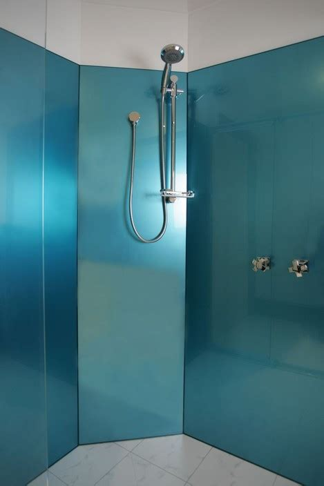 how to clean bathroom wall tiles easily acrylic showersplash in 2 different metallic colours