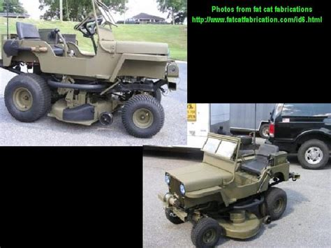 lawn mower jeep army jeep lawn mower jeep ride on mowers