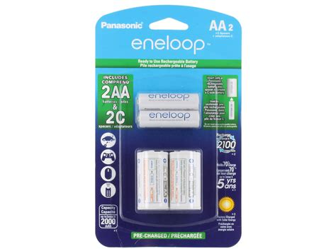 Best Produk Panasonic Basic Charger Eneloop Aa 2000mah 4pcs 2100cycl eneloop combo kit 4x aa 4x c cell spacer free charger