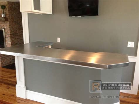 Zinc Bar Tops by Zinc Bar Top L Shaped With 45 Degree Corner