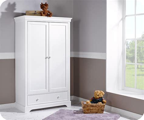Armoire Bebe Blanche armoire b 233 b 233 mel blanche 2 portes achat mobilier