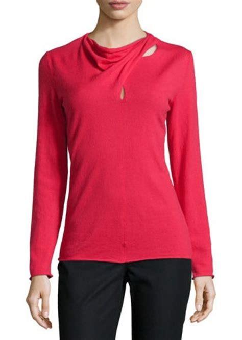 drape neck sweater lafayette 148 lafayette 148 new york long sleeve drape