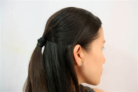 how to do half ponytail hairstyles how to make half ponytail hairstyles 13 steps with pictures