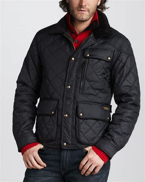 Polo Quilted Jacket Mens by Polo Ralph Quilted Bomber Jacket In Black For
