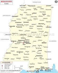 map with all cities and towns cities in mississippi mississippi cities map