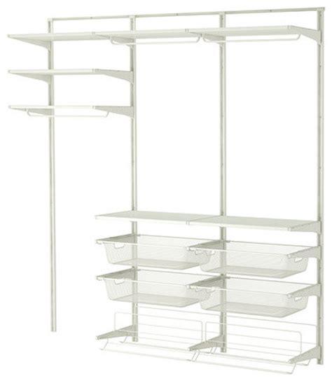 white closet organizer algot wall upright rod shoe organizer white