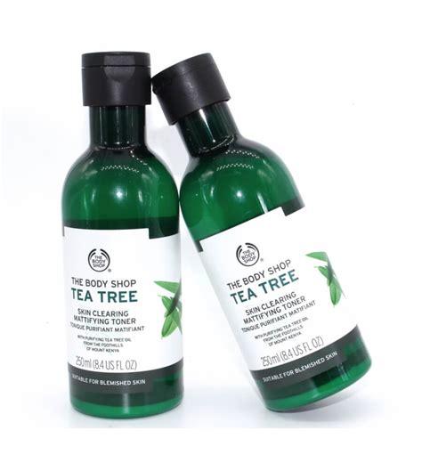 Bodyshop Tea Tree Toner n豌盻嫩 hoa h盻渡g the shop tea tree skin clearing toner