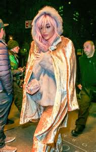 Perfectly Pink Coat For Valentines Day by Pink Haired Jenner Wears Shimmery Coat For