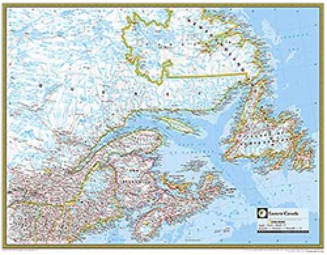 national geographic map of canada eastern canada atlas wall map maps