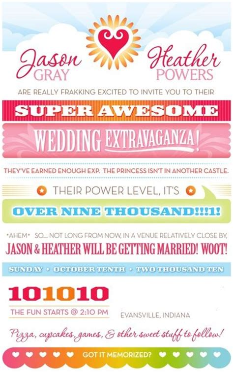 Science Math Pop Culture Nerdy Wedding Invitations Creative Wedding And Awesome Geeky Wedding Invitation Templates