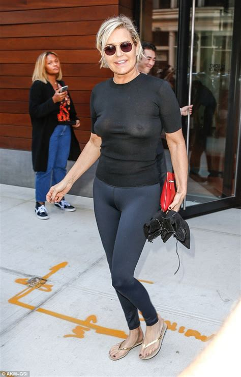 yolanda foster looks so good yolanda hadid goes braless as she visits daughter gigi s