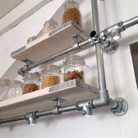 Pan Shelf by Wall Mounted Industrial Kitchen Shelves And Pan By