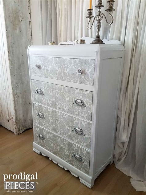 Decoupage Dressers - decoupage furniture to add flair prodigal pieces