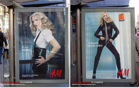 Madonna For Hm Billboard Vandalized by M By Madonna Posters From Madrid Madonnatribe Decade