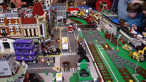 Home Design Show Brisbane brickville town harbour lego city railway train layout