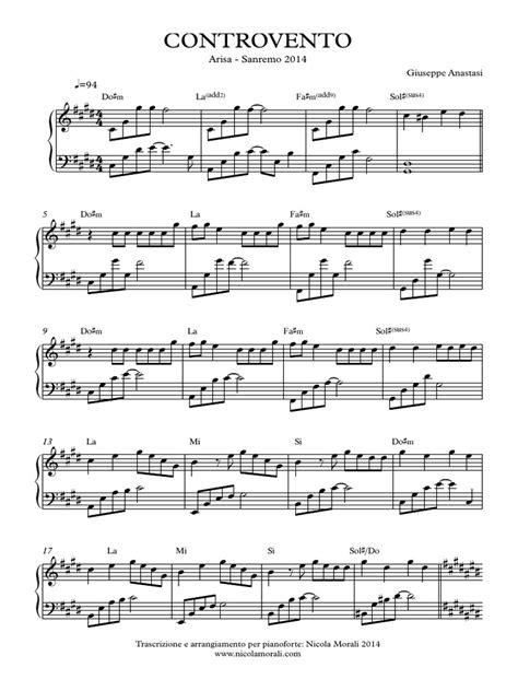 testo auschwitz nomadi controvento arisa spartito per pianoforte