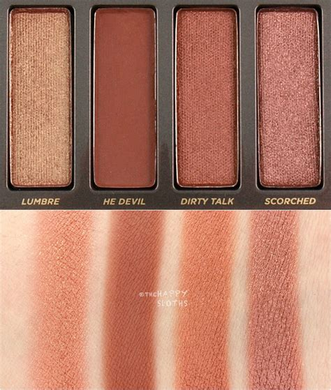 Palette Decay decay heat eyeshadow palette swatches and