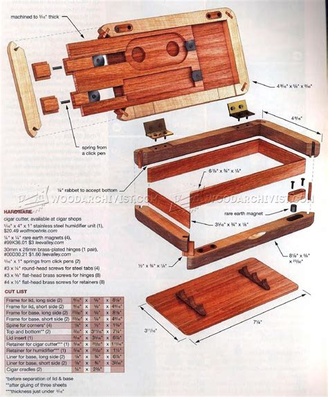 humidor woodworking plans pocket humidor plans woodarchivist