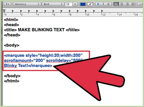 html text color tag how to make blinking text without the text tag or javascript