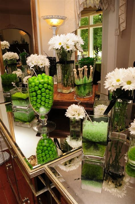 Green & Black candy table  Wedding candy table   Green and