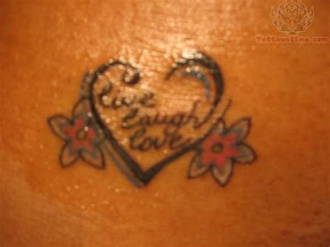live tattoo designs live laugh design