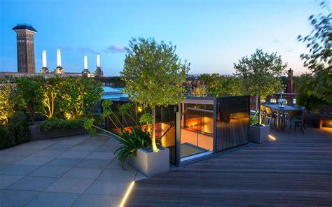 Modern roof terrace Chelsea Mylandscapes garden design London