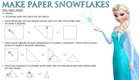 How Do You Make Paper Snowflakes Step By Step - disney s frozen free printable how to make a paper snowflake