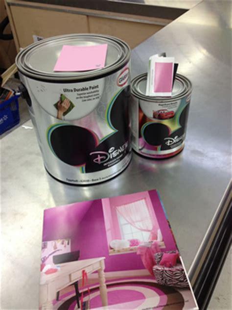 disney paints  glidden  pink room project