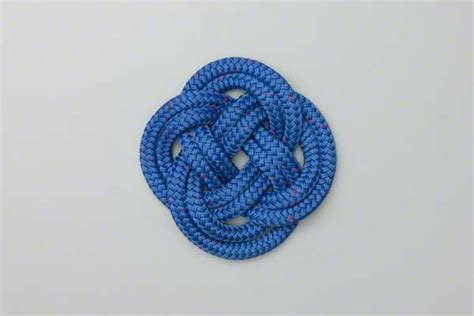 Decorative Knots - carrick bend mat how to tie a carrick bend mat