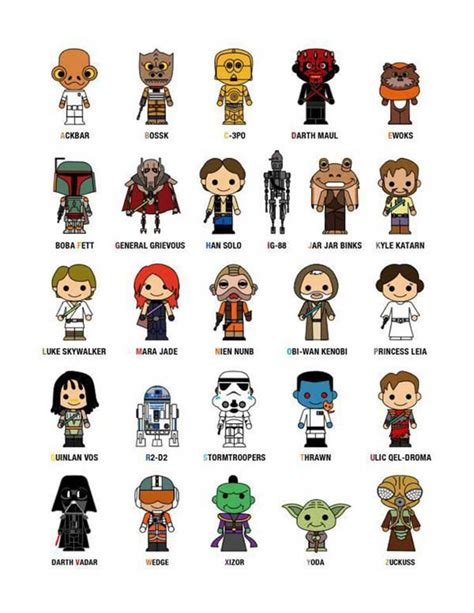 Or Characters Wars Character A To Z Talk Sing Song