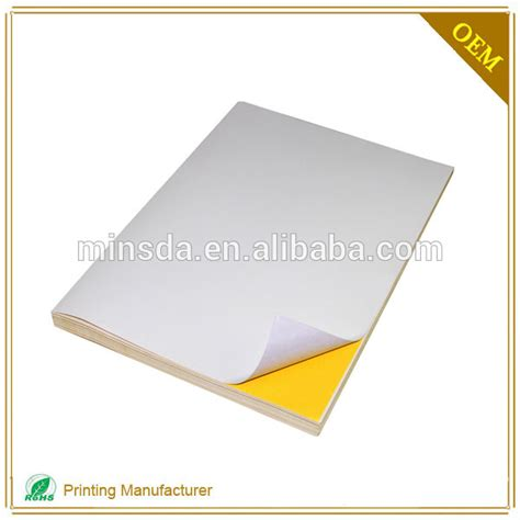 sticker printing paper a4 price 2016 adhesive sticker a4 size sticker paper for laser