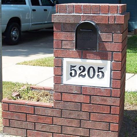 how to decorate a square brick mailbox for christmas how to build brick mailbox various optional features of brick mailbox designs home design studio