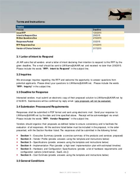 Rfp For Logistics Project Logistics Rfp Template