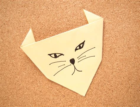 How To Make An Origami Cat - how to make an origami cat 4 steps with pictures