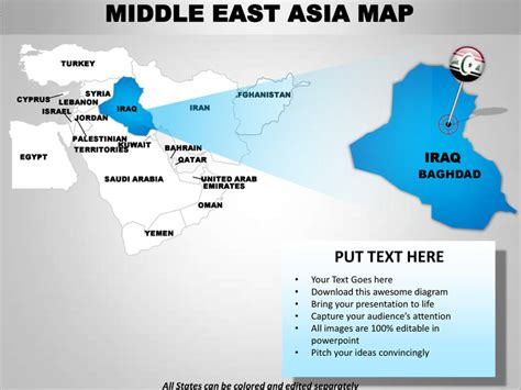 middle east map editable middle east asia editable continent map with countries