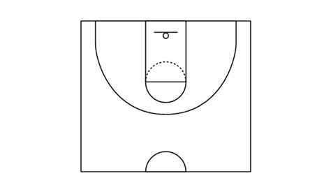 basketball key template basketball courts vector stencils library basketball