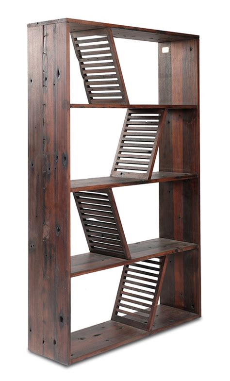 designer bookshelves designer reclaimed wood bookcase shipwood dark by