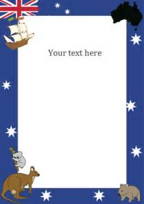 australia day notepaper page borders free early years