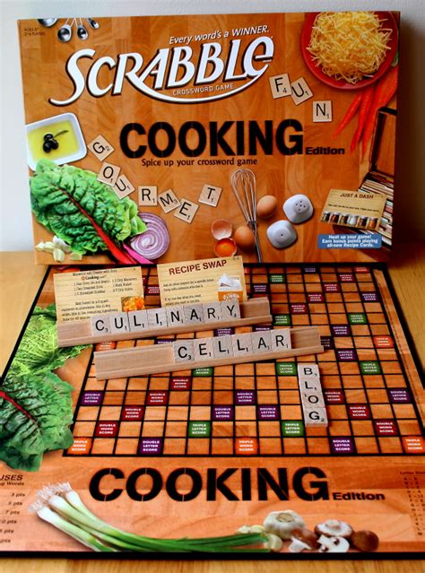scrabble food scrabble for foodies the culinary cellar