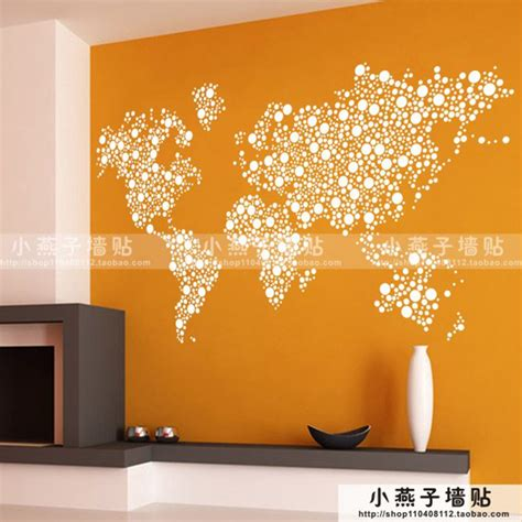 creative wall stickers large new design pattern creative world map wall