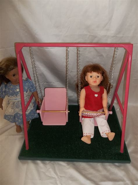 american girl doll swing set items similar to swing set for american girl doll and all