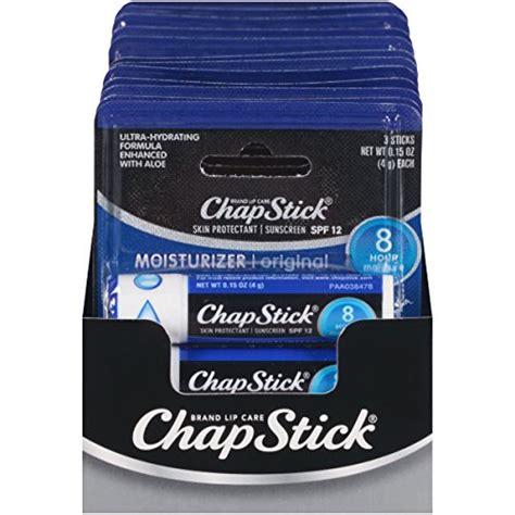 Chapstick Moisturizer Lip Balm With Spf 12 chapstick lip moisturizer and skin protectant lip balm sunscreen spf 12 0 15 ounce