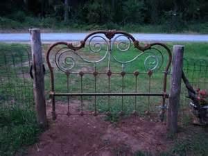 wrought iron board gate gardens