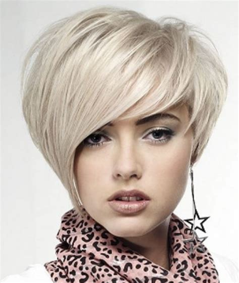 short hair styles swoop bangs short women hairstyle with swept bangs in long length png