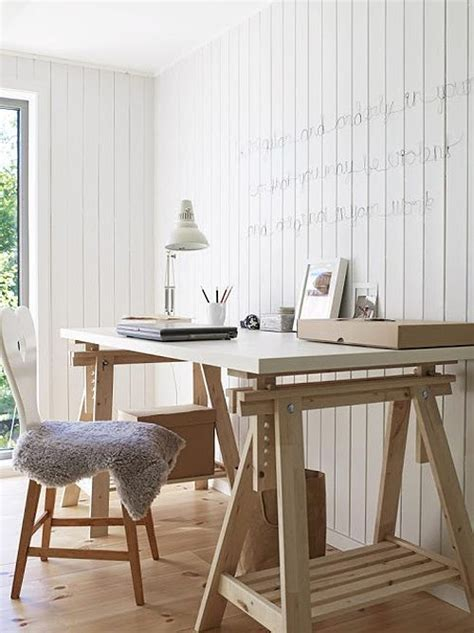 28 Gorgeous Trestle Tables And Desks For Your Home Digsdigs Trestle Desk White