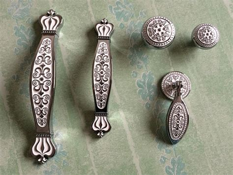 shabby chic kitchen cabinet handles aliexpress buy 3 75 quot 5 quot silver white drawer knobs