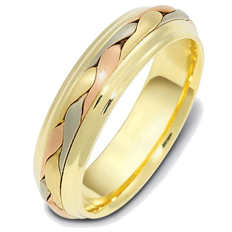 Handcrafted Wedding Bands - 110721 14 kt made wedding band