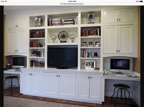 built in wall unit with desk and tv wall unit with tv and workstation house ideas