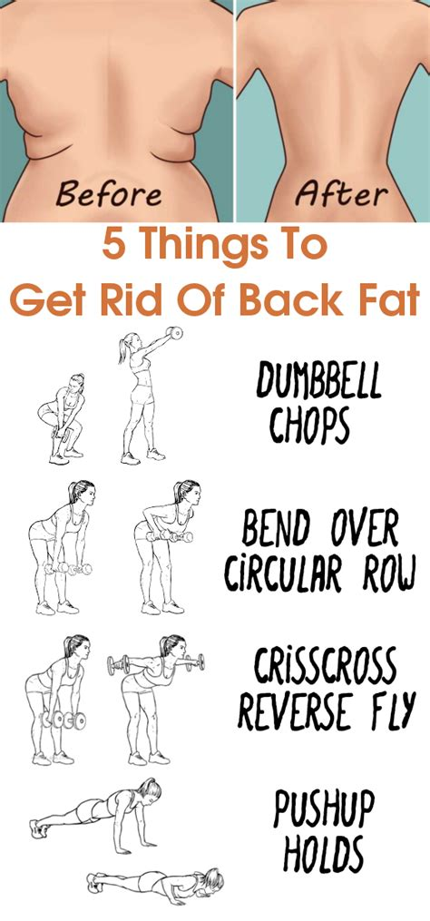things to get rid of 5 things to get rid of back fat a beginner s workout routine